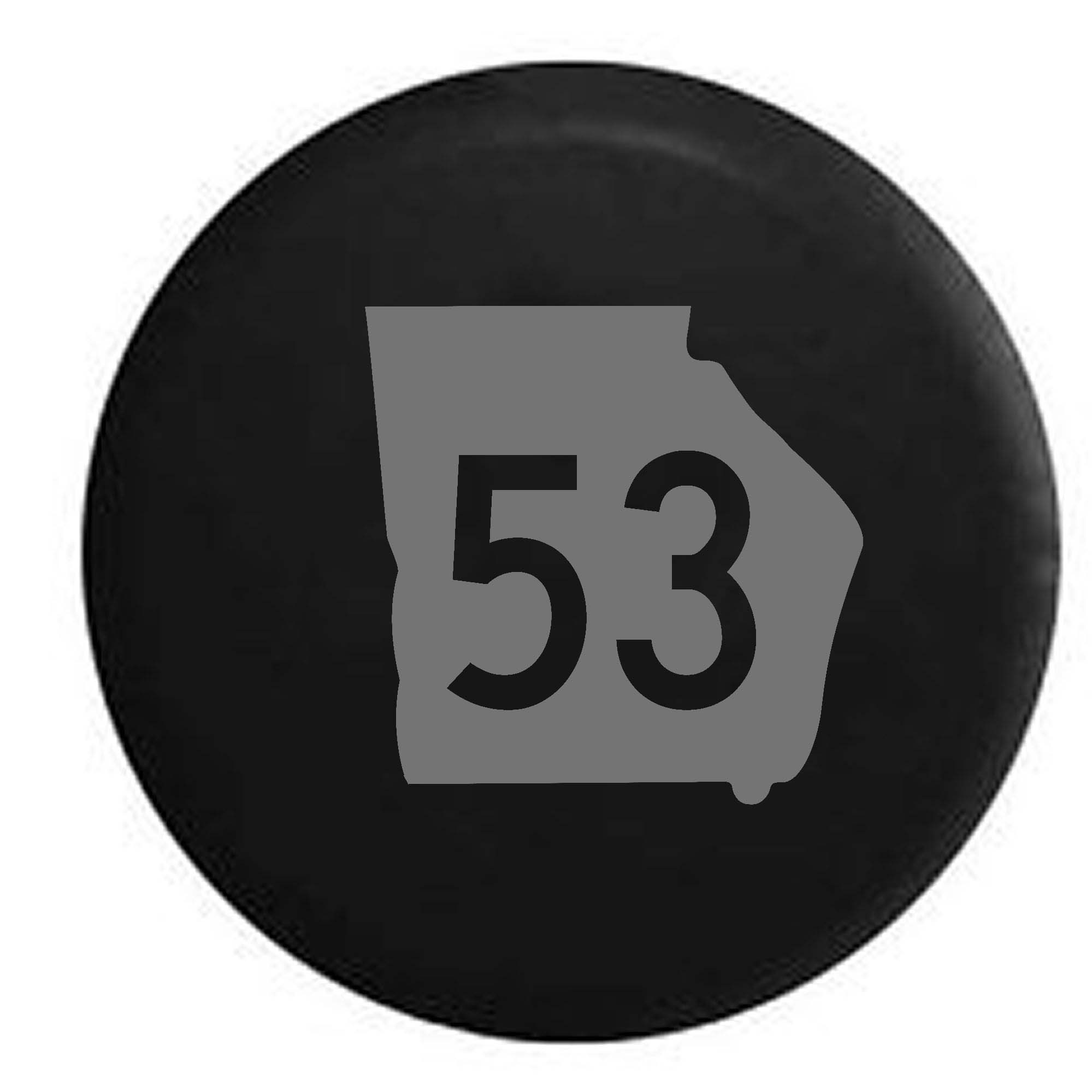 Georgia State Highway Route 53 Scenic Sign Spare Tire Cover Vinyl Stealth Black 33 in