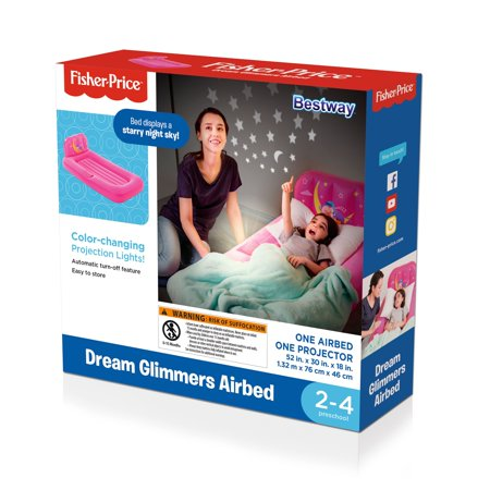 Bestway - Fisher-Price™ PVC Dream Glimmers Kids Airbed, Pink