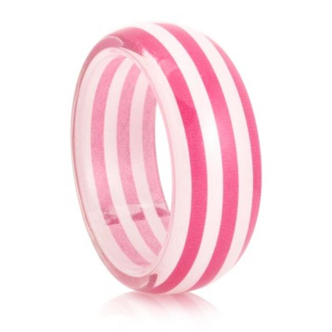 C Jewelry Pink And White Stripe Bangle