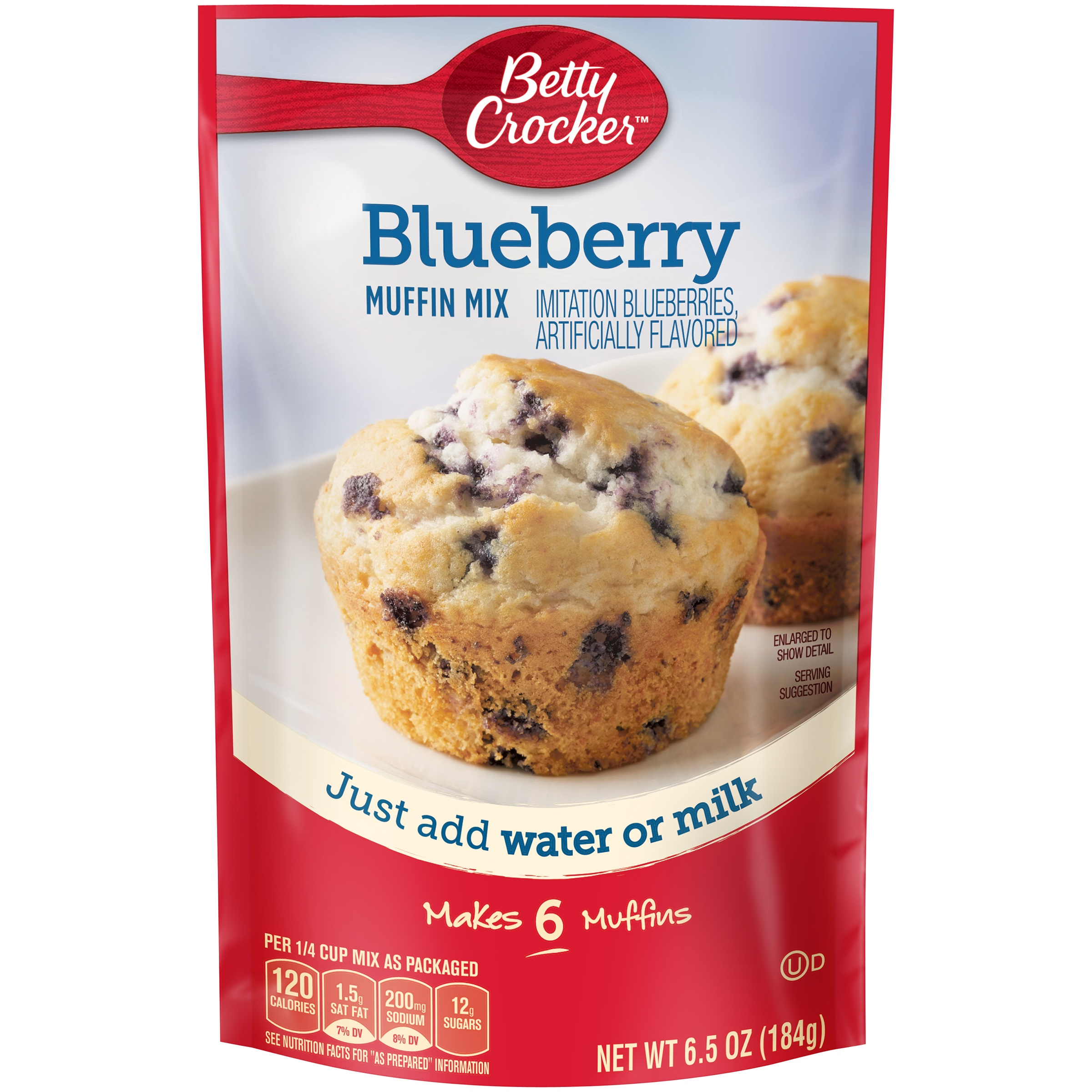 Betty Crocker Muffin Mix Blueberry, 6.5 OZ by General Mills Sales, Inc.