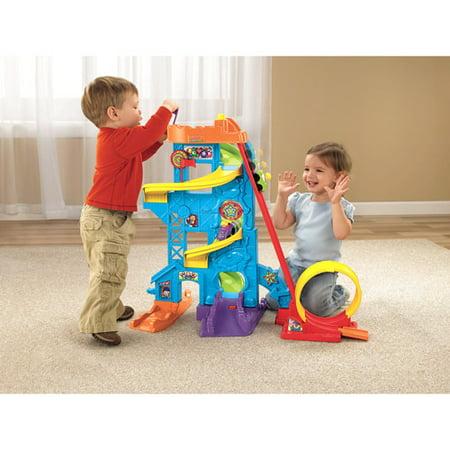 Little People Car Garage - Little People Wheelies Loops ;n Swoops Amusement Park Play Set