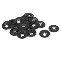 Uxcell 4mm x 12mm Metal Quicklock Starlock Star Speed Lock Locking Washers (20-pack)