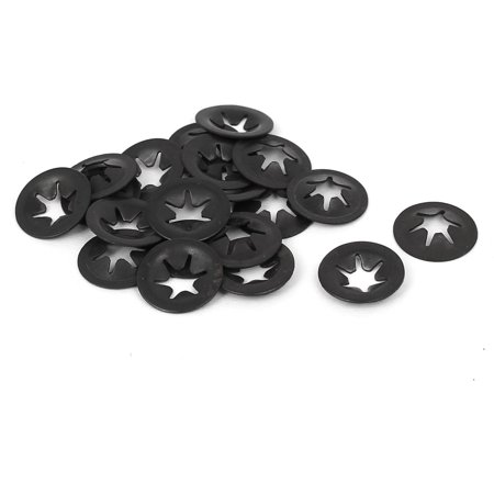 Uxcell 4mm x 12mm Metal Quicklock Starlock Star Speed Lock Locking Washers -