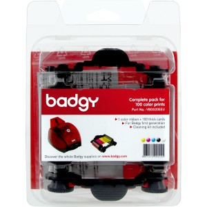 Evolis Badgy-Basic, Thick Consumable Kit - Compatible with original Badgy-Basic only, part #BDG101FRU