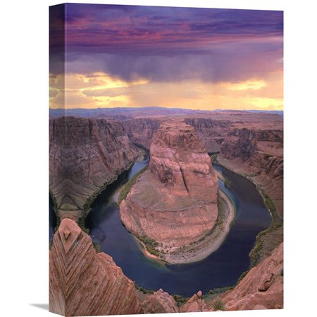 Global Gallery Storm Clouds Over The Colorado River At Horseshoe Bend Near Page Arizona Wall Art