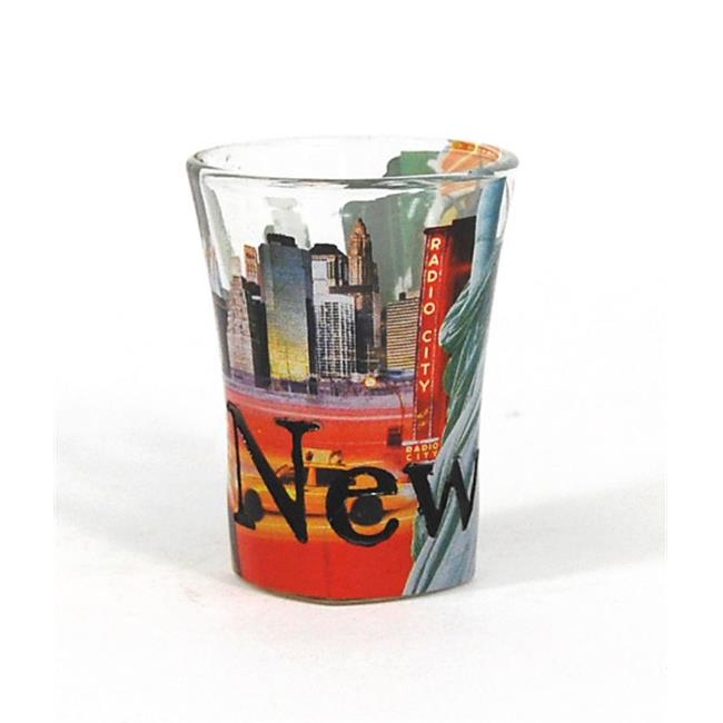 Americaware SGNYC03 New York Full Color Etched Shot Glass by Americaware