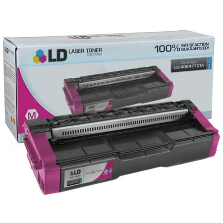 LD © Compatible Replacement for Ricoh 406477 High Yield Magenta Laser Toner Cartridge for use in Ricoh Aficio SP C231N, SP C232DN, SP C242DN, SP C242SF, and SP C320DN Printers