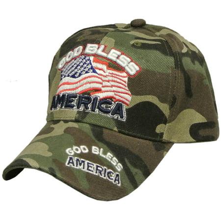God Bless America USA Flat Hat Baseball Cap for Men and Women - Walmart.com 8add4312be