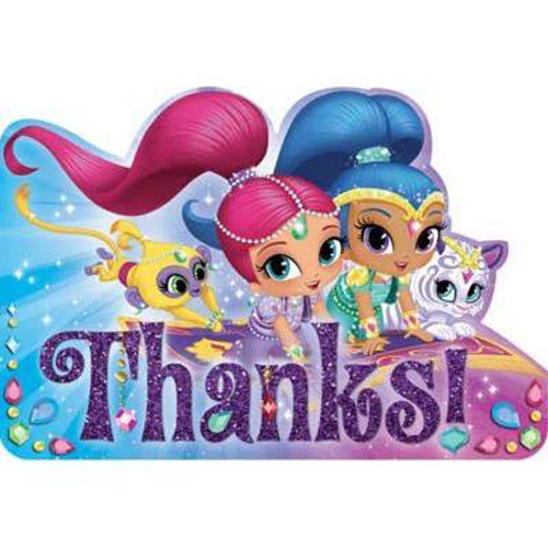 Shimmer and Shine Thank You Notes w/ Envelopes (8ct)