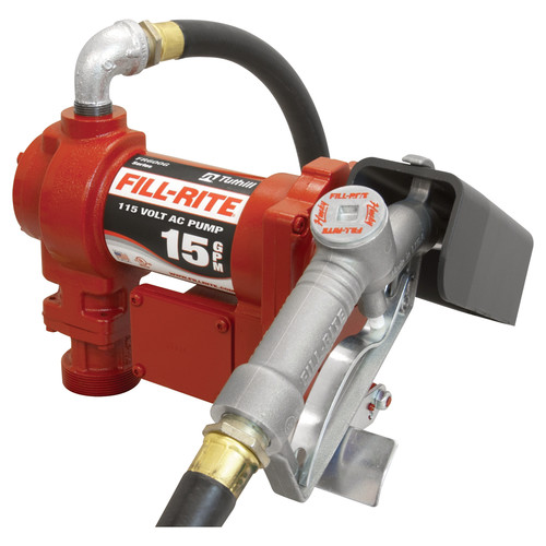 Tuthill Transfer FR610G 115 Volt Heavy Duty Pump With Hose And Manual Nozzle