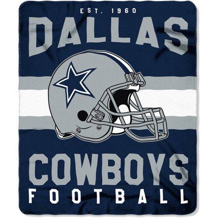 Nfl Dallas Cowboys  Singular  50  X 60  Fleece Throw