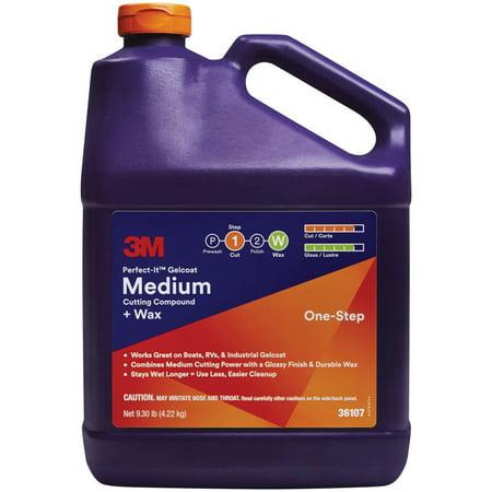 3M 36107 Perfect-It Gelcoat Medium Cutting Compound Plus Wax -