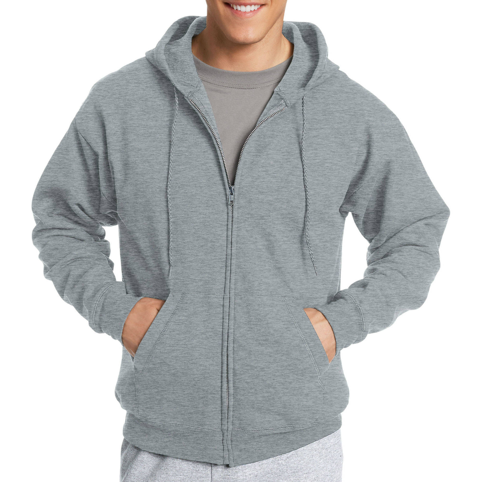Big & Tall Men's EcoSmart Fleece Zip Pullover Hoodie with Front Pocket