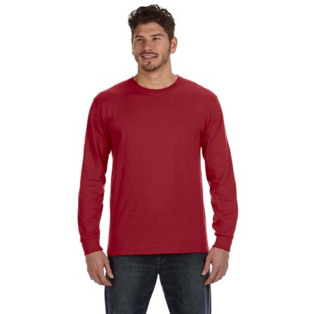 A Product of Anvil Adult Midweight Long-Sleeve T-Shirt - INDEPENDENCE RED - L [Saving and Discount on bulk, Code Christo]