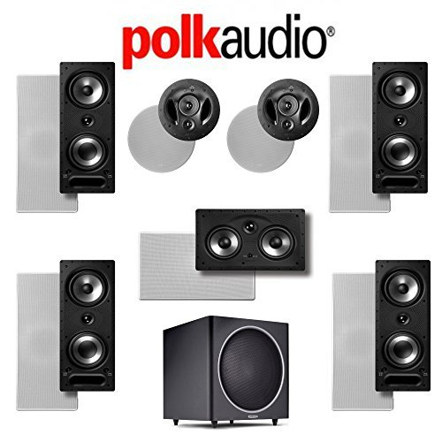Polk Audio 265-RT 7.1 Vanishing Series In-Wall   In-Ceiling Home Theater System (265-RT + 90-RT + 255C-RT + PSW125) by Polk Audio