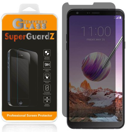 [2-Pack] For LG Stylo 4+ Plus SuperGuardZ Tempered Glass Screen Protector [Privacy Anti-Spy], Keep Your Screen Secret, 9H Anti-Scratch, Anti-Bubble 6pc Tempered Glass