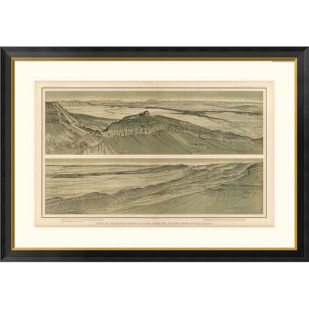Global Gallery Grand Canyon - Views of the Marble Canon Platform, 1882 by William Henry Holmes Framed Graphic Art