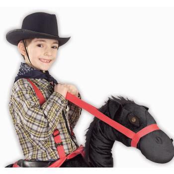 HAT-BLACK COWBOY FELT-CHILD (Cheap Felt Cowboy Hats)