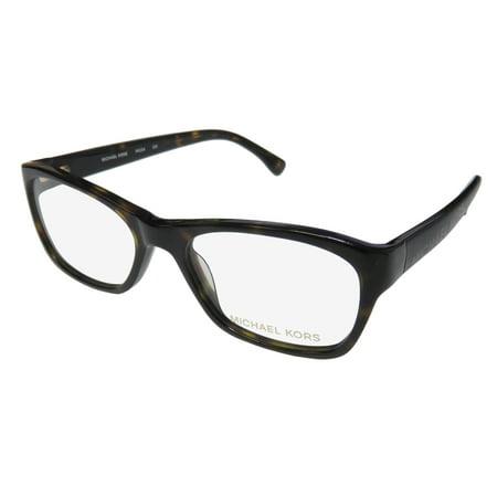 New Michael Kors 254 Mens/Womens Designer Full-Rim Tortoise Prestigious Brand Modern Hip Frame Demo Lenses 50-17-130 (Cool Eyewear Brands)