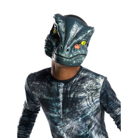 Jurassic World: Fallen Kingdom Velociraptor Blue 1/2 Child Mask](Toy Kingdom Halloween)