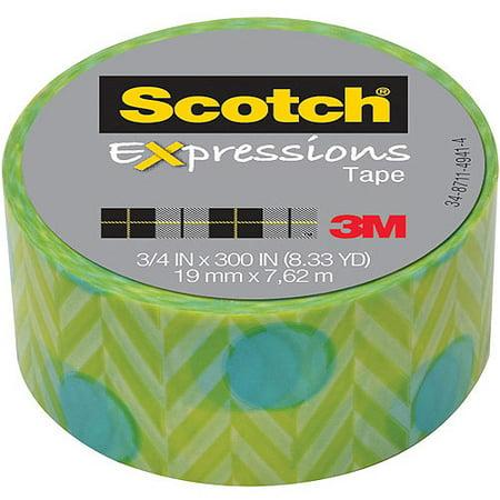 """Scotch Expressions Magic Tape, 3/4"""" x 300"""", Blue Green"""