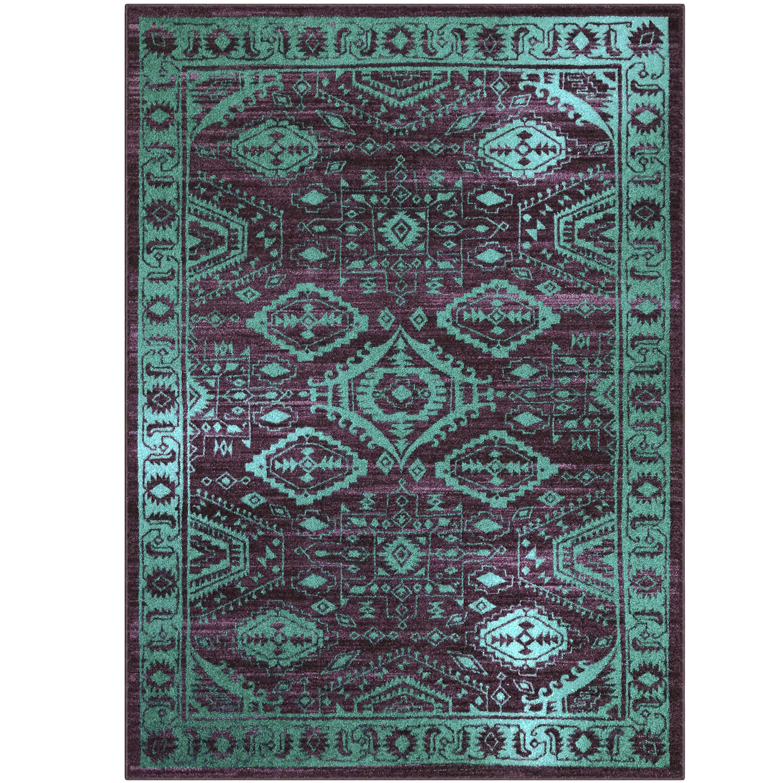 Mainstays Global Arya Texture Print Area Rug or Runner, Multiple Sizes