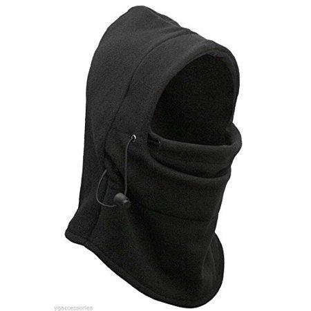 Polar Wear - 5-In-1 Balaclava Cold Weather Fleece Motorcycle Ski Face Mask  Hood Neck Warmer Gaiter With Adjustable Elastic String - Walmart.com e8afe06fd06