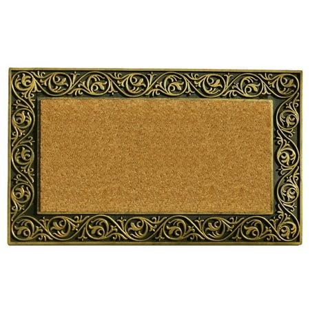 Momentum Mats Prestige Gold Border Doormat Gold Door Mat