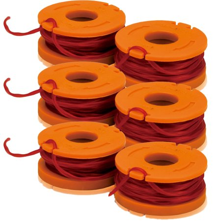 Worx (6 Pack) WA0004 10-Foot Trimmer Spool Line 2-Pack for WG150 #
