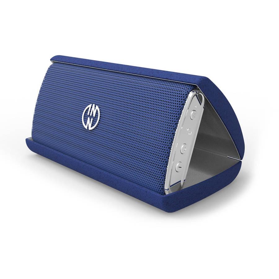 InnoDesign InnoFlask Bluetooth Portable Speaker with Travel Case, Blue