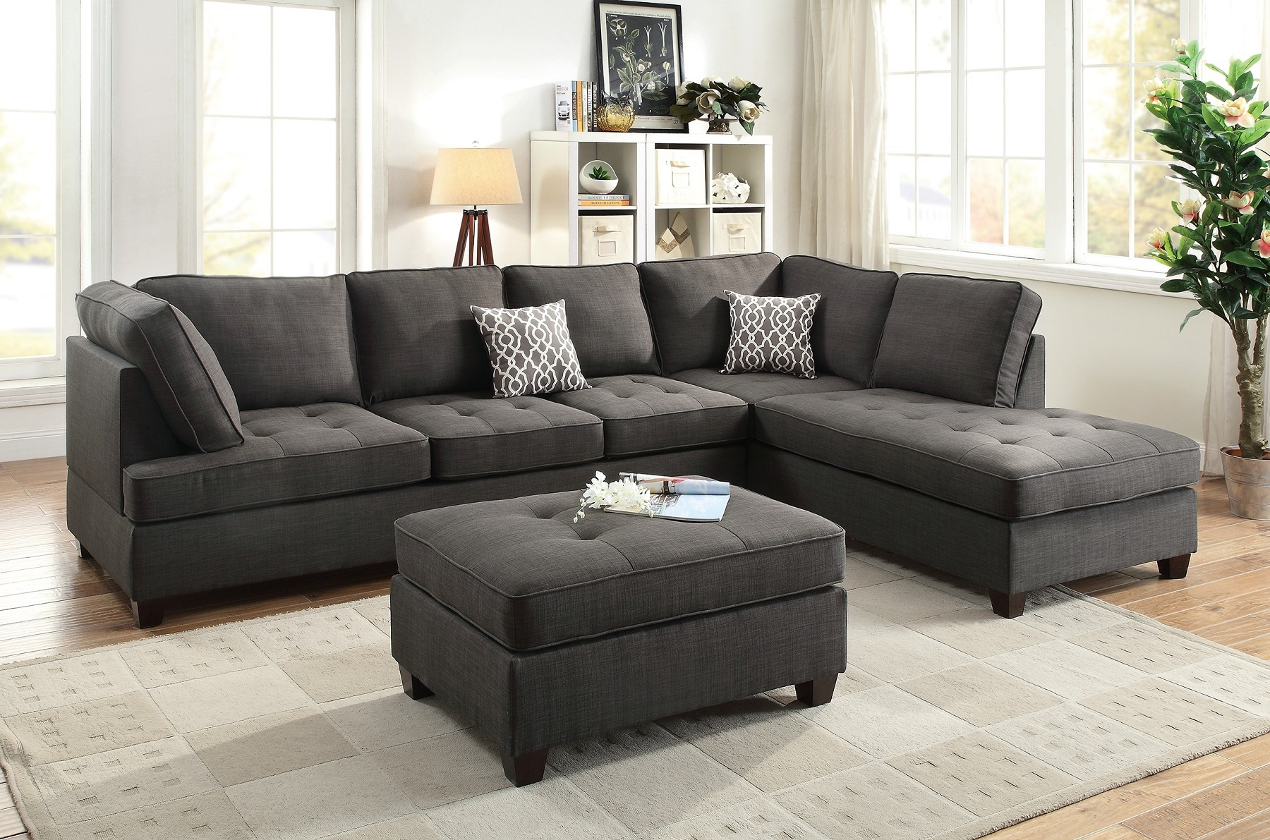 Sectional Sofa With Chaise Nova Sectional Sofa Chaise In Gray
