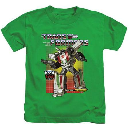 Trevco Sportswear HBRO219-KT-1 Transformers & Wheeljack-Short Sleeve Juvenile 18-1 T-Shirt, Kelly Green - Small 4 - image 1 of 1
