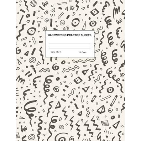 Handwriting Practice Sheets: Cute Blank Lined Paper