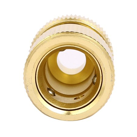 Aluminum Washing Hose Pipe Pass Water Connector Gold Tone 13mm 1/2-inch 2pcs - image 3 of 4