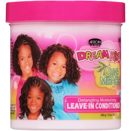 Image of African Pride Dream Kids Olive Miracle Detangling Moisturizing Leave-In Conditioner 15 oz. Jar