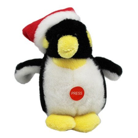 Soft Spots Holiday Pal Noise Making Plush Toy: Penguin - By Ganz (Holiday Penguin)