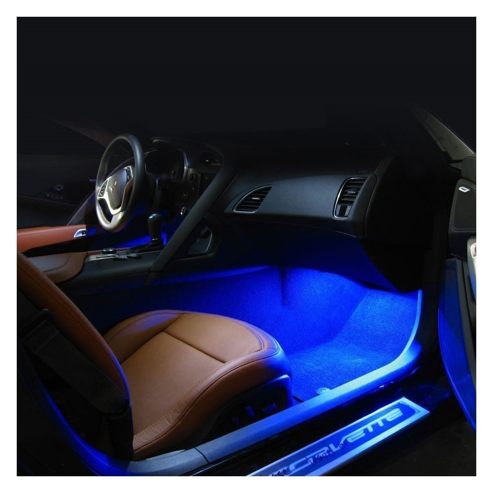 C7 Corvette Stingray Footwell LED Lighting Kit (Amber Super Bright)