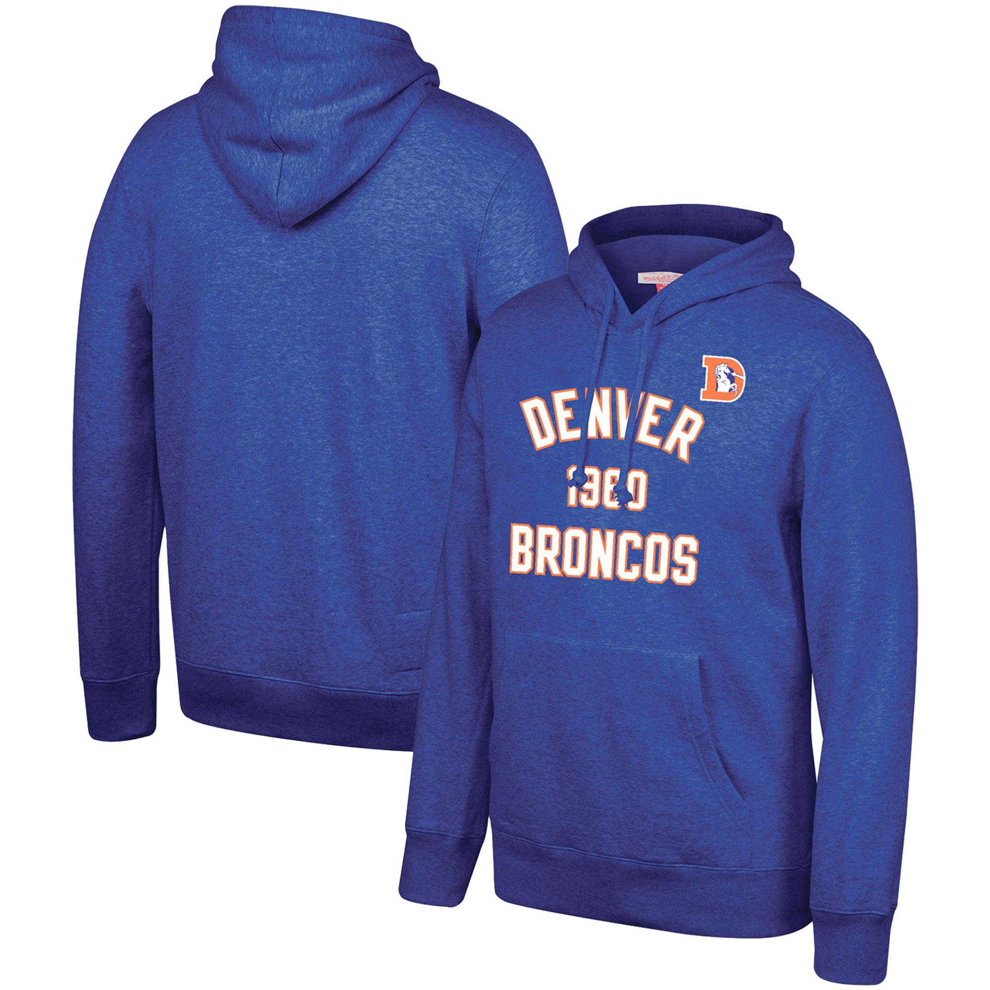 Denver Broncos Mitchell & Ness Team History Pullover Hoodie - Blue