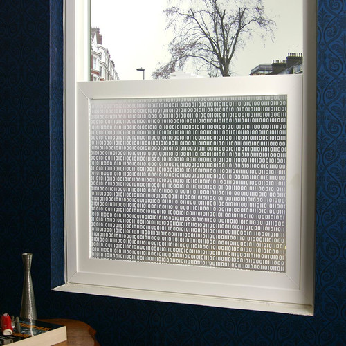 Stick Pretty Bits and Bytes Privacy Window Film