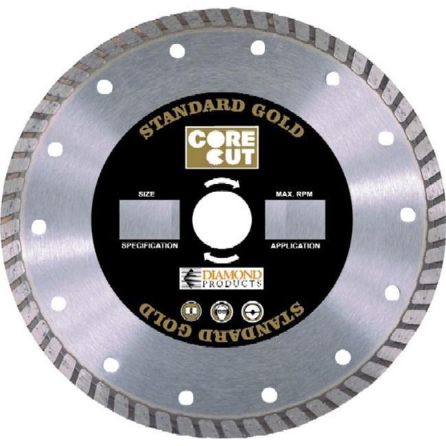 Diamond Products Core Cut x UNV Standard Gold Turbo Blade