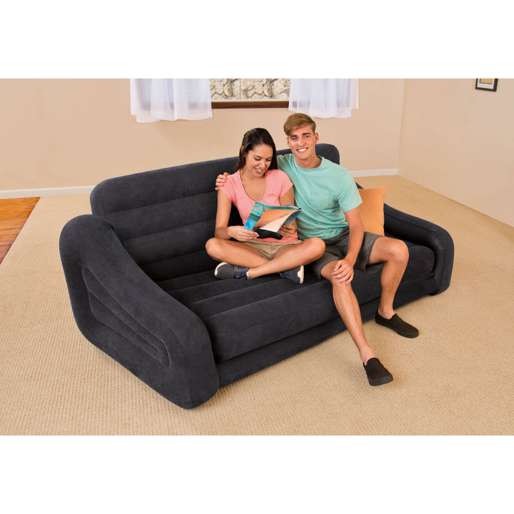 Intex Queen Inflatable Pull Out Sofa Bed, 1 Each   Walmart.com