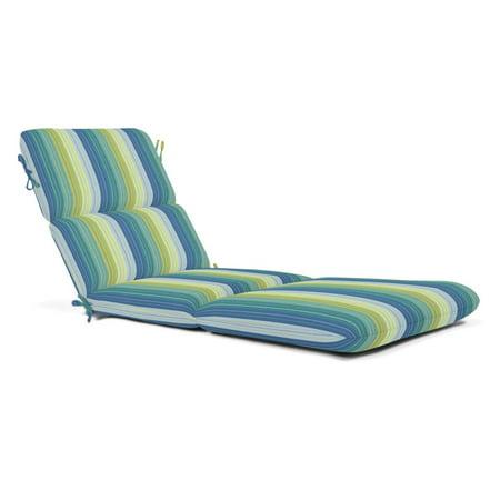 Sunbrella Striped Outdoor Chaise Cushion 74 X 22 In Seville