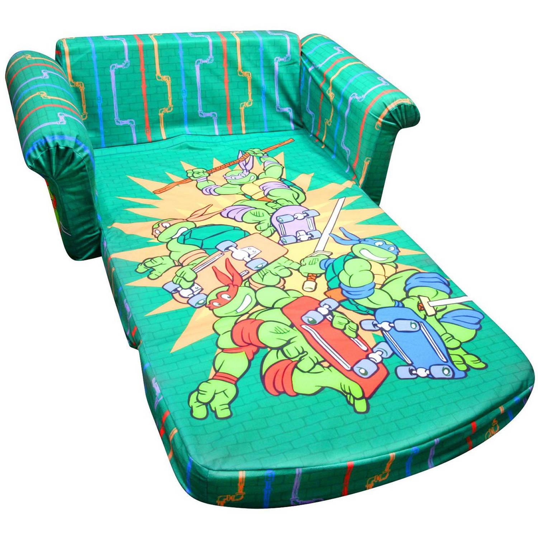 Marshmallow Furniture Flip Open Sofa Teenage Mutant Ninja Turtles