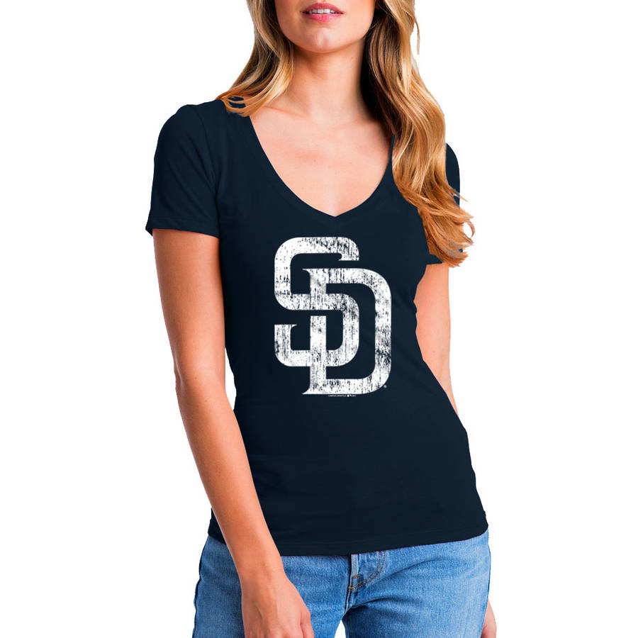 MLB San Diego Padres Women's Short Sleeve Team Color Graphic Tee