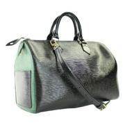 25b2e0d3f4 Louis Vuitton Bicolor Bandouliere Epi Speedy 35 63lva3117 Black Satchel