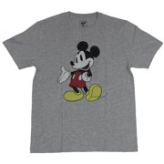 Mickey Mouse Mens T-Shirt  - Hand Out Distressed Full Color Mickey Image