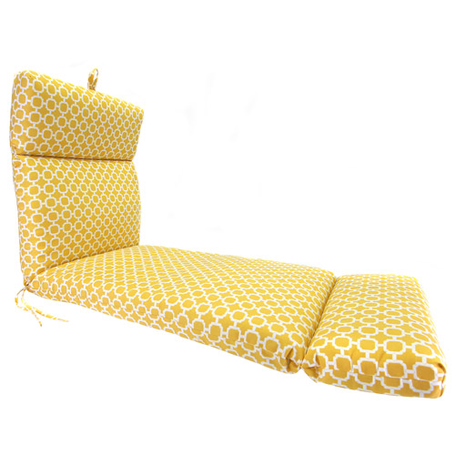 Jordan Manufacturing Outdoor French Edge Chaise Cushion, Multiple Patterns