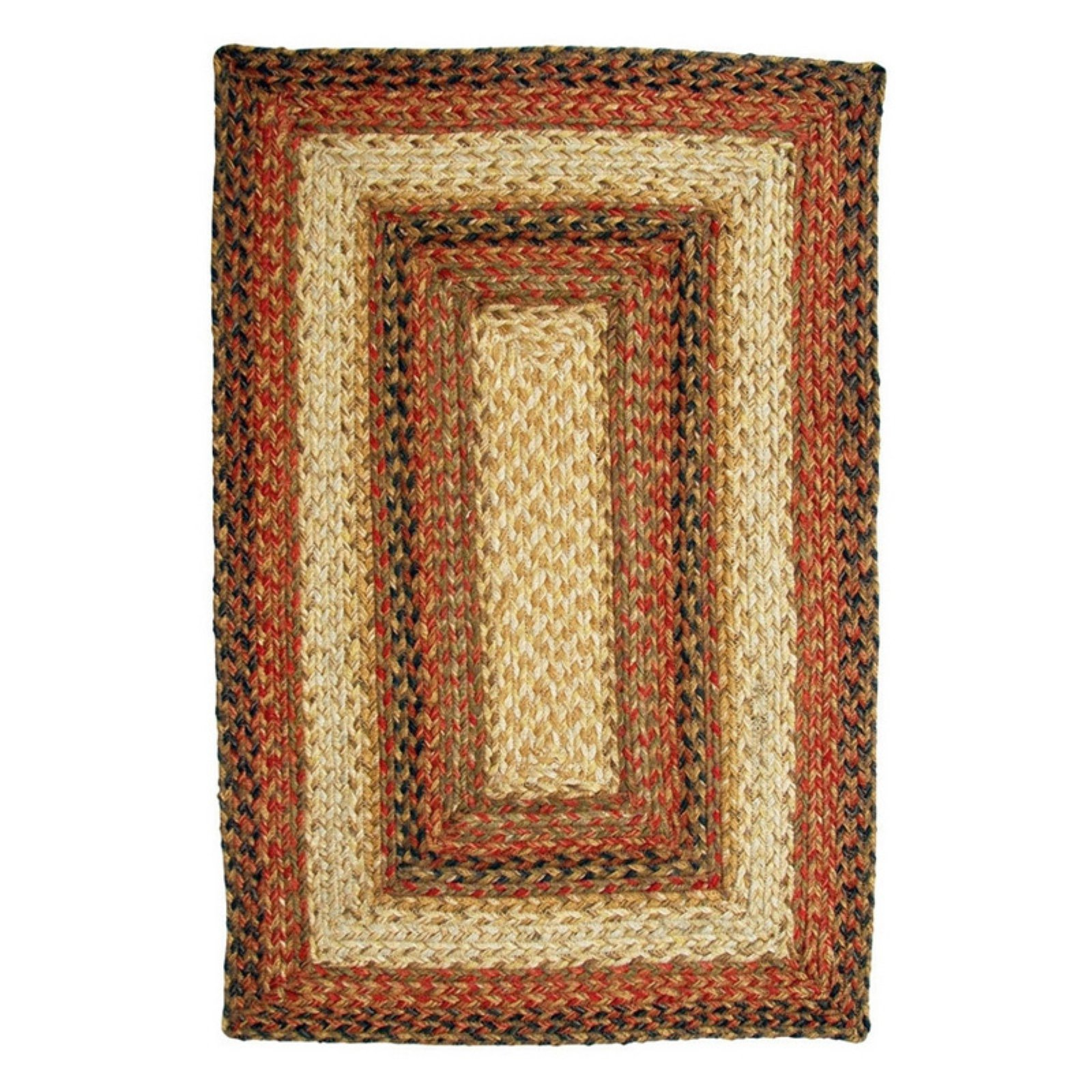Homespice Decor Russet Braided Area Rug