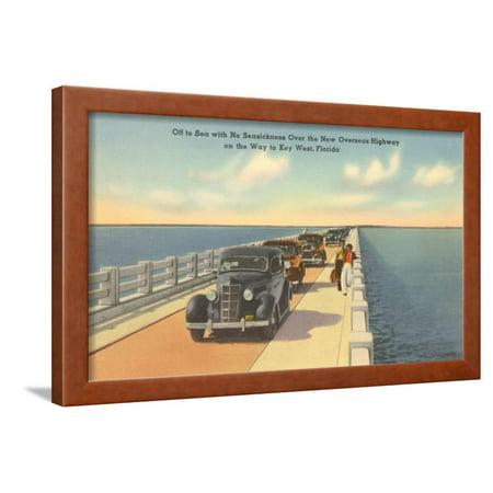 Bridge to Key West, Florida Framed Print Wall Art