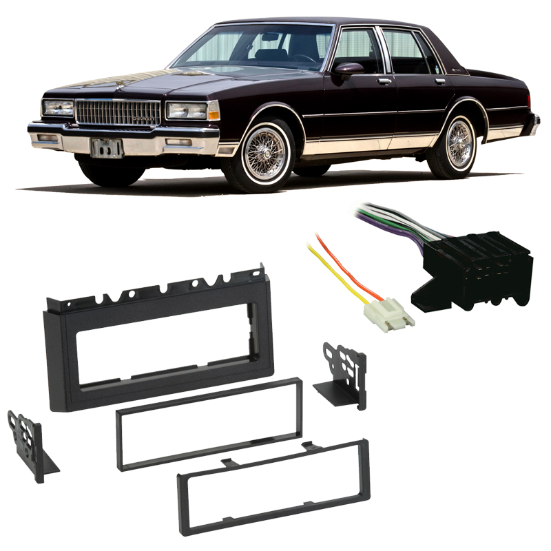 fits chevy caprice 1985 1990 single din stereo harness radio installfits chevy caprice 1985 1990 single din stereo harness radio install dash kit walmart com